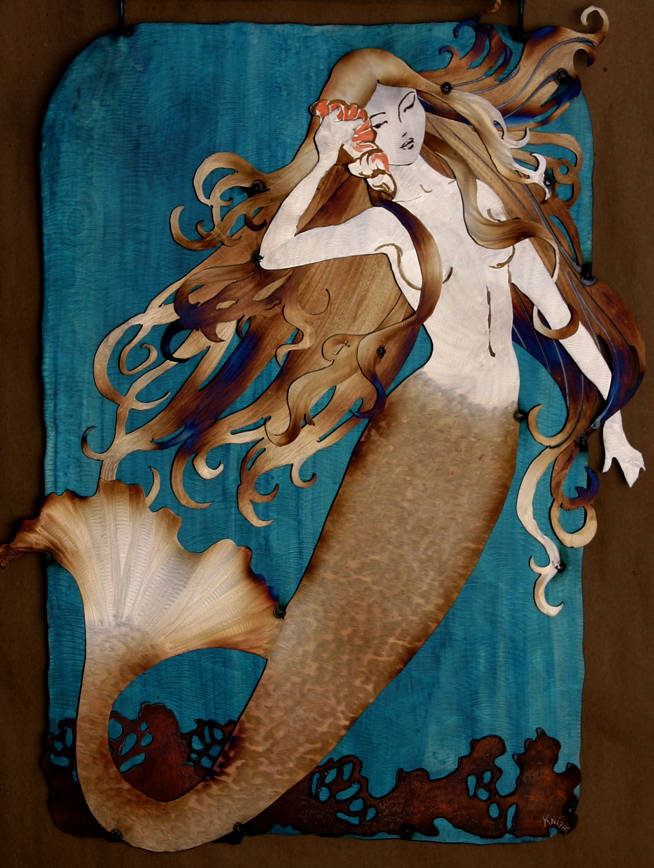 Golden Mermaid with shell: 24