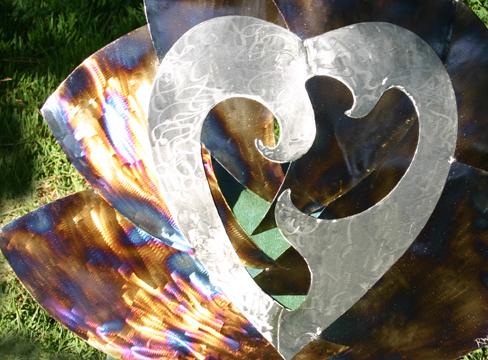 A silver Heart.