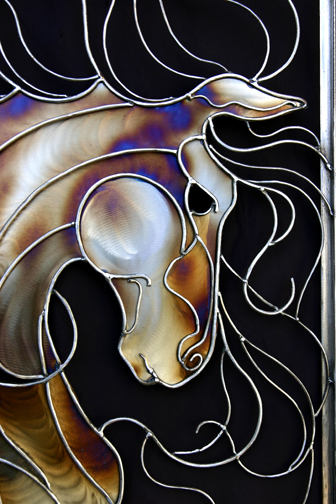 Face of abstract horse #2