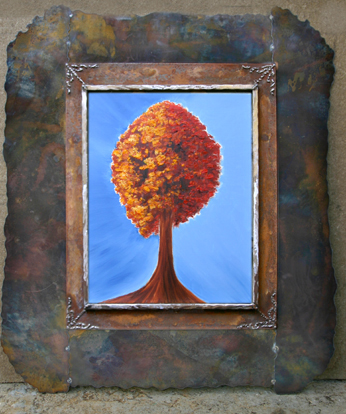 Autumn tree in large frame: 24