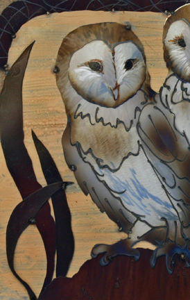 Barn Owl duo for a Dedicated Owl Lover to honor her husband's memory.