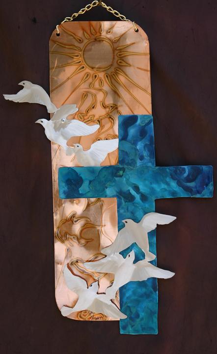 Copper Malachite cross