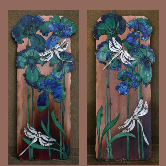 Dragonflies & Iris