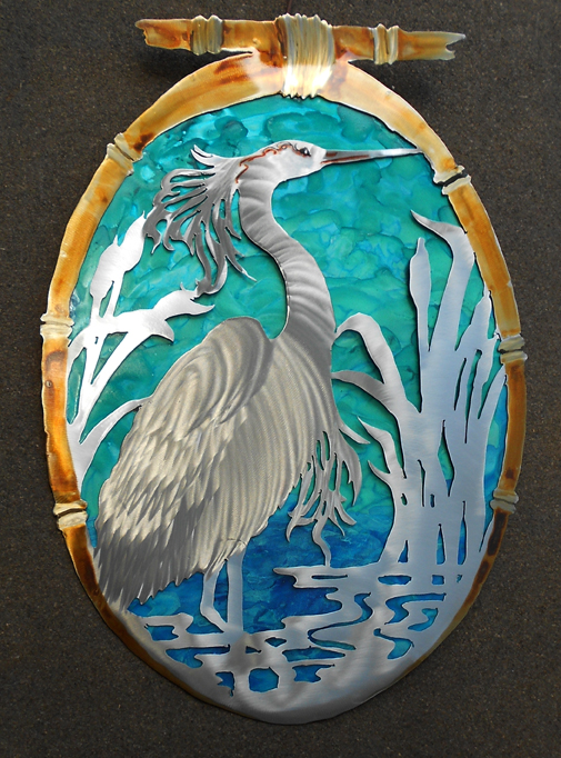 Oval Malachite Egret
