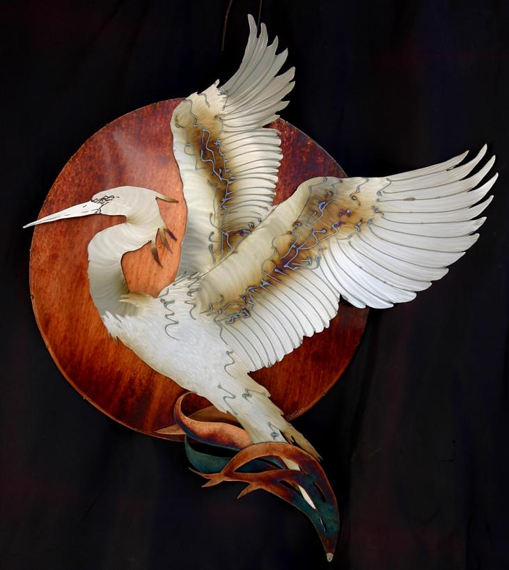 Egret sun