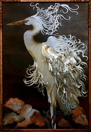 White Egret silver
