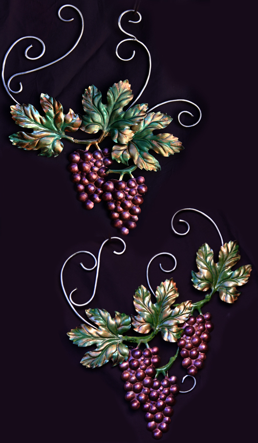 Grapes and curved vines