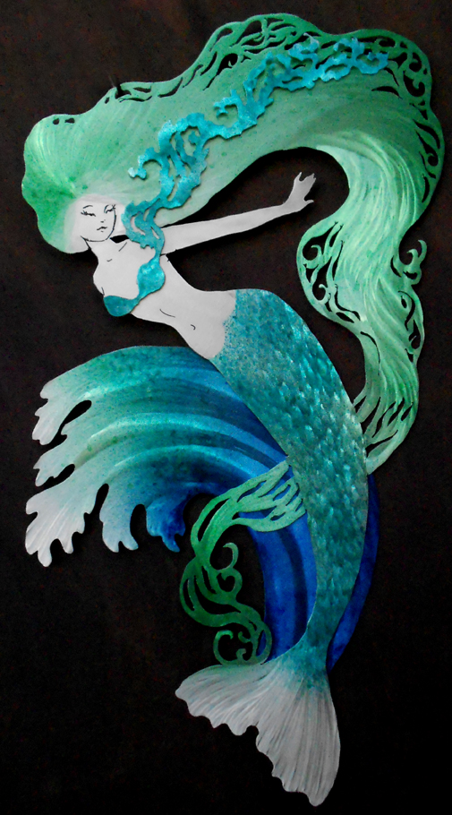 BlueGreen Mermaid Wave