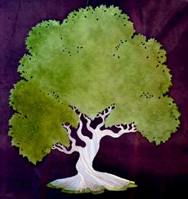 Green Layered tree
