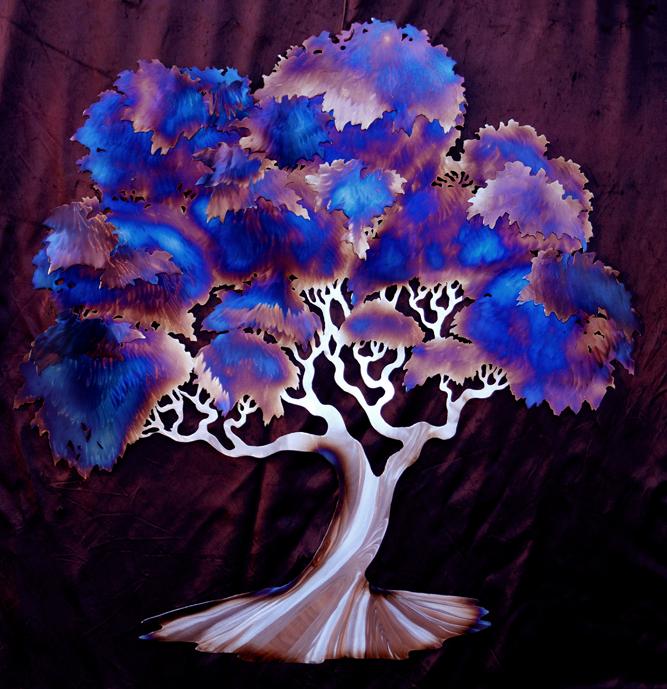 blue heated Tree