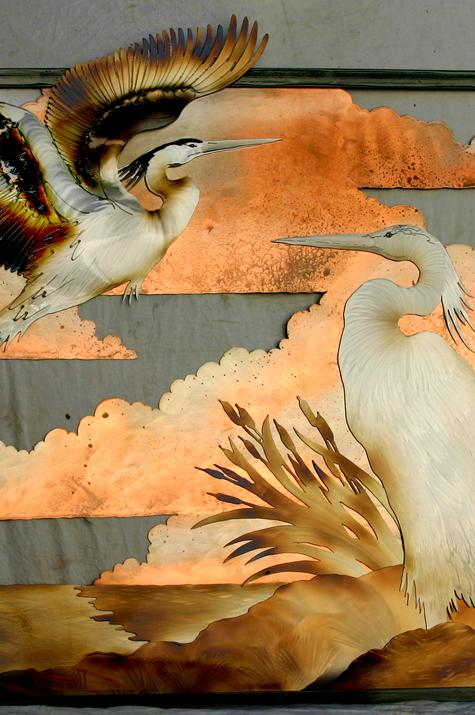 Egret & Blue Heron clouds