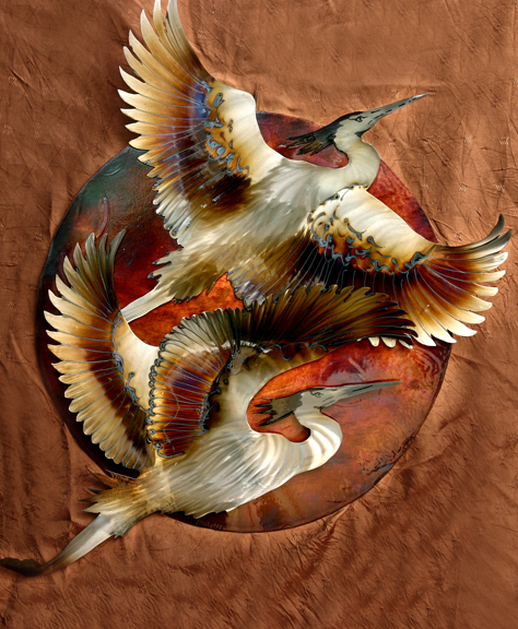 Duo Heron Sun