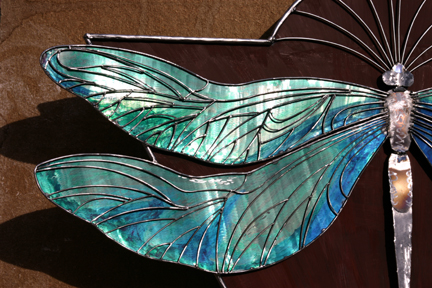 Light glowing on the wings...