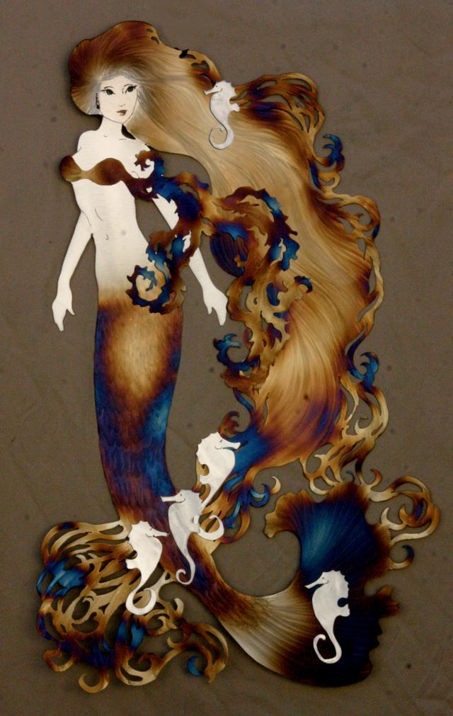 Mermaid queen of seahorses