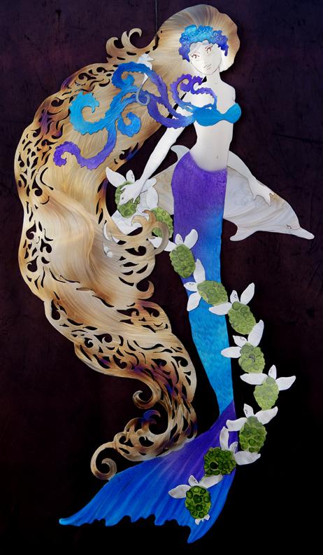 Purple Blue Mermaid