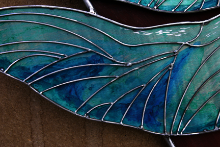 Very close work of wing sections.