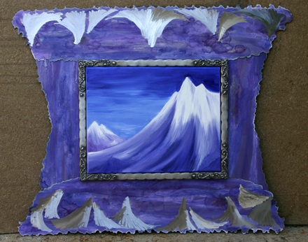 Purple mountains and special etched frame: 