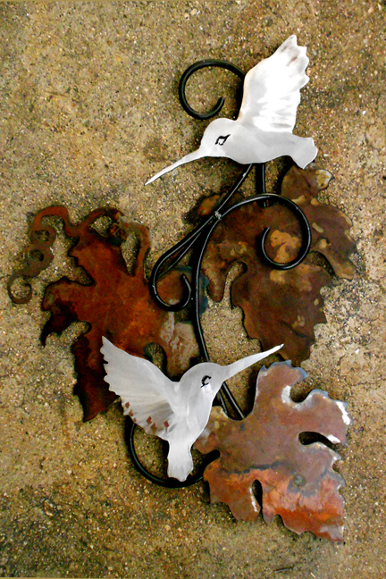 Rusted leaves & Hummingbirds 2