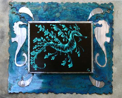 Sea Dragon painting and frame: 32