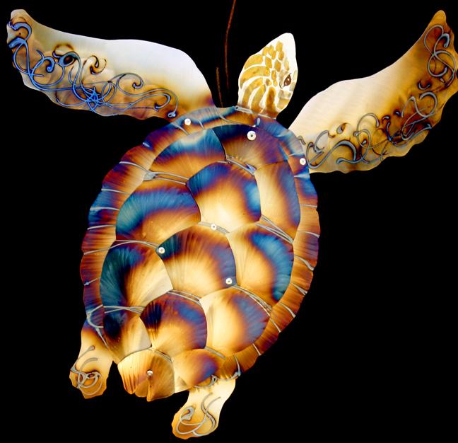 Sea turtle in layers 24