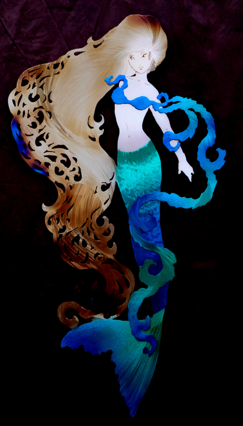Sassy Mermaid with bright tail