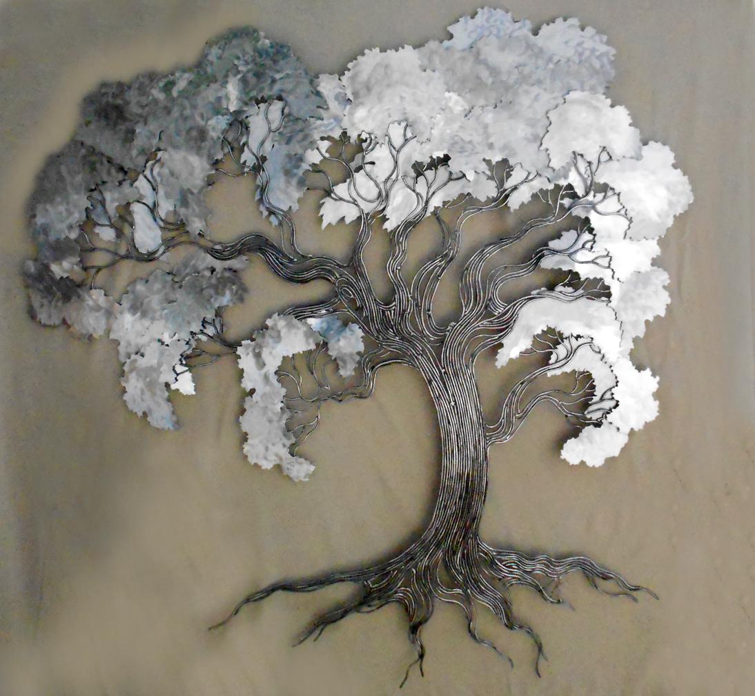 Hand Bent Wire oak 3